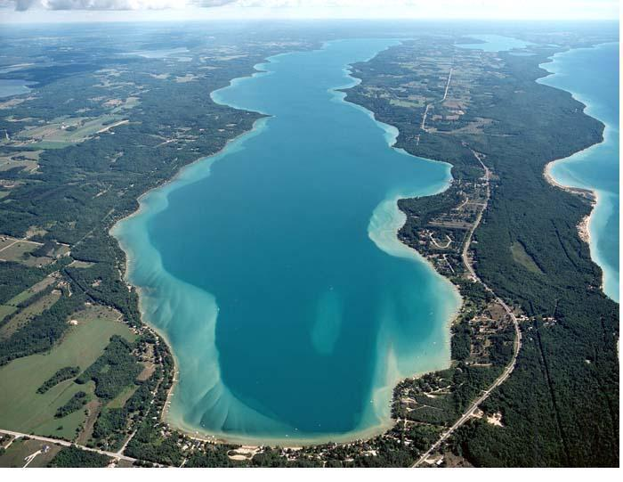 The Caribbean-like Torch Lake is just minutes away !