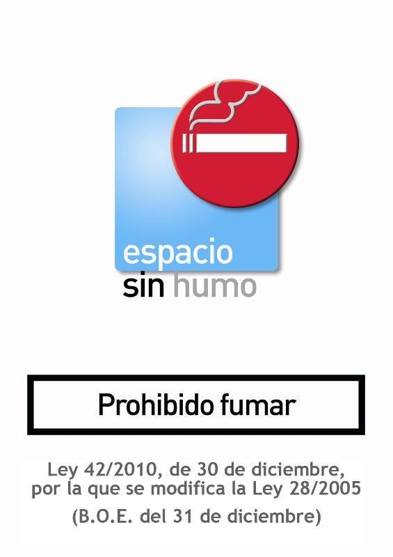 Espacio sin humo. Prohibido Fumar