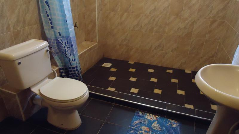 one of our bathrooms. all have hot showers and more than enough space to maneuver.