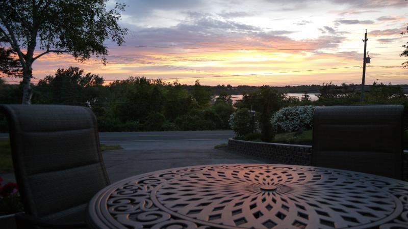 Watch the fabulous sunsets from your own private patio