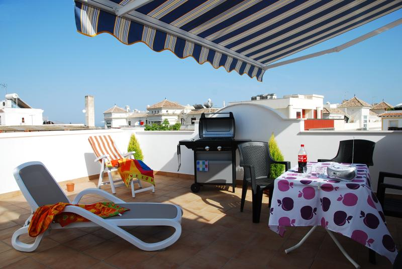 Fantastic private terraces with barbecue just 200mt from Balcon de Europa, holiday rental in Nerja