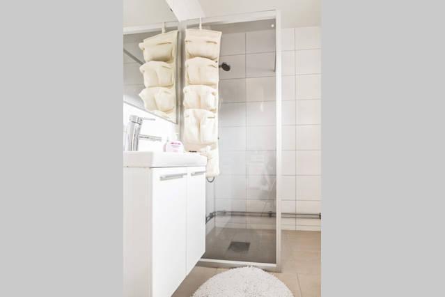 renovated bathroom with floor heating