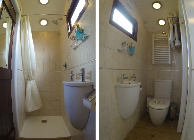 Fuly En suite. Fluffy towels, shower gel and plenty of fresh toilet paper included.