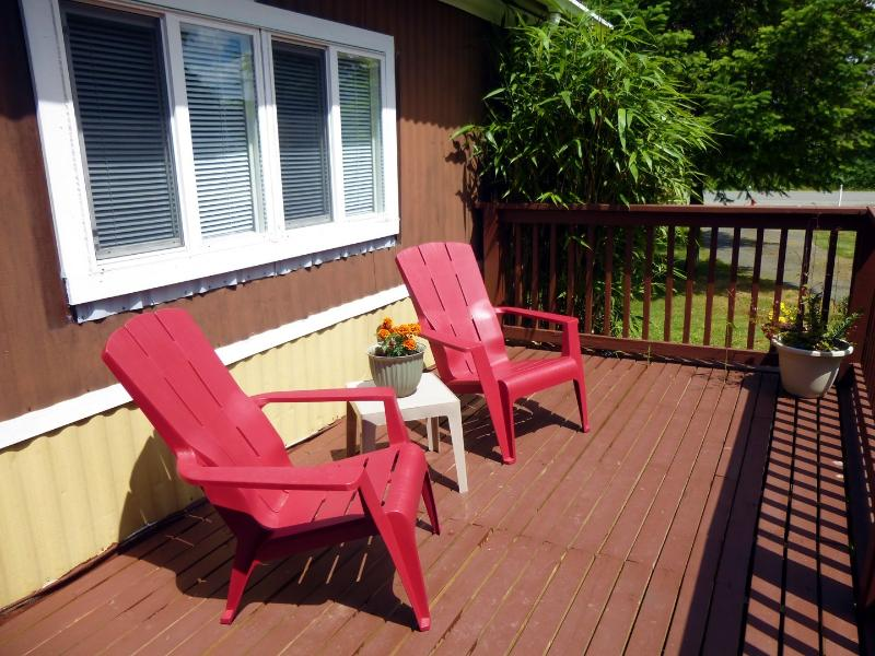 Soak in the sun and fresh country air on the deck.
