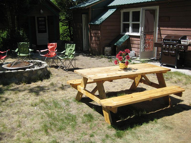 Picnic and BBQ Area by Firepit