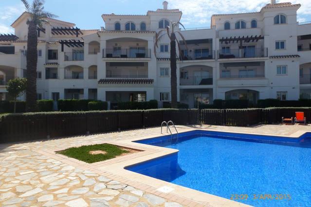 Ansicht der Wohnung aus pool
