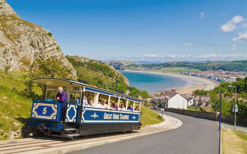 Tram ride up the Great Orme, only a 5 minute walk from the property