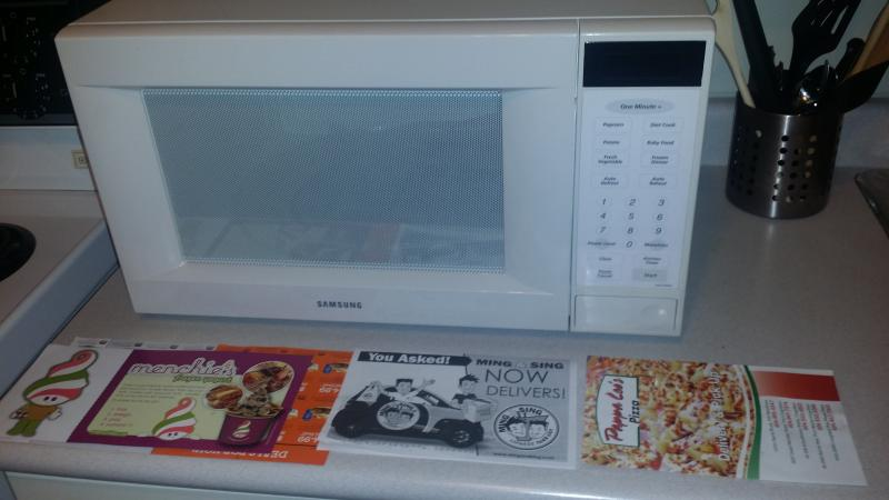 New Samsung microwave for warm meals