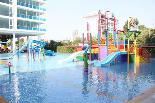 Waterplayground, just on the door step from room.  It is only 20 meters walk