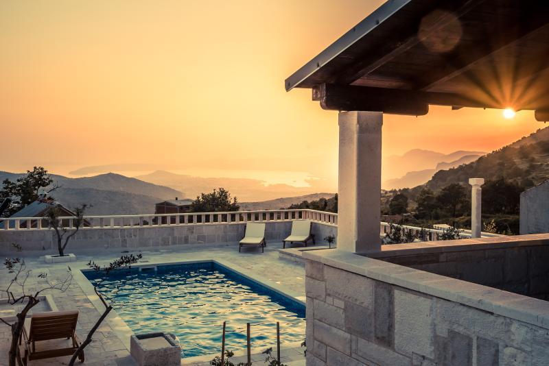 Sunset at pool