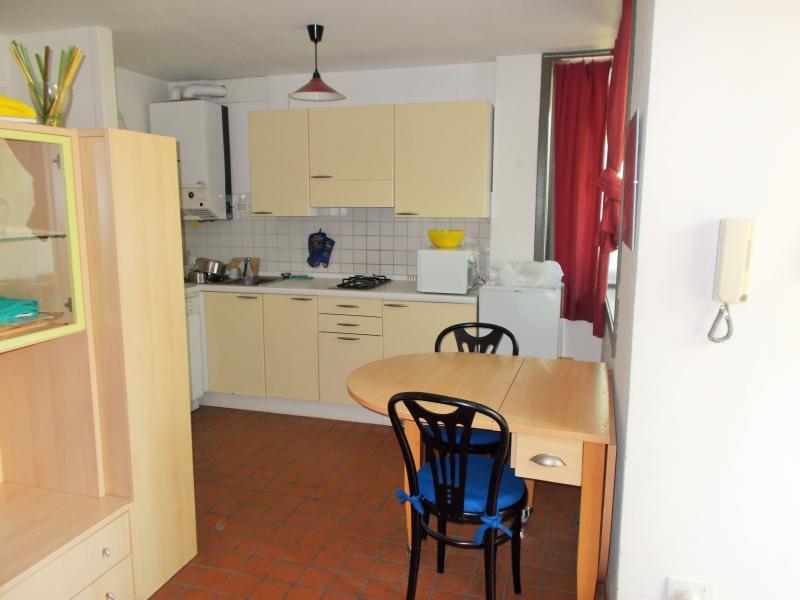 La zona de salón/cocina