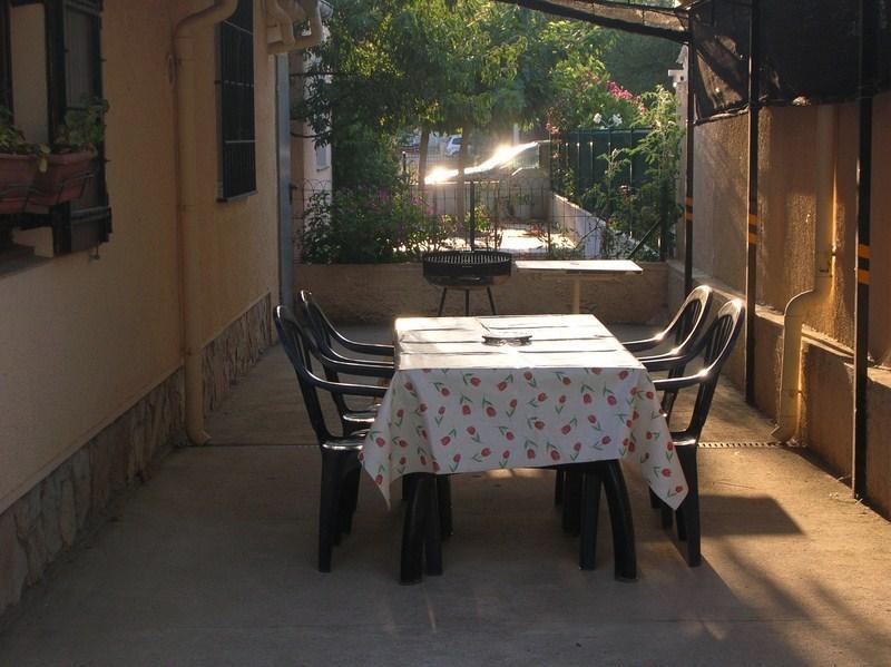 La terrasse ombragée