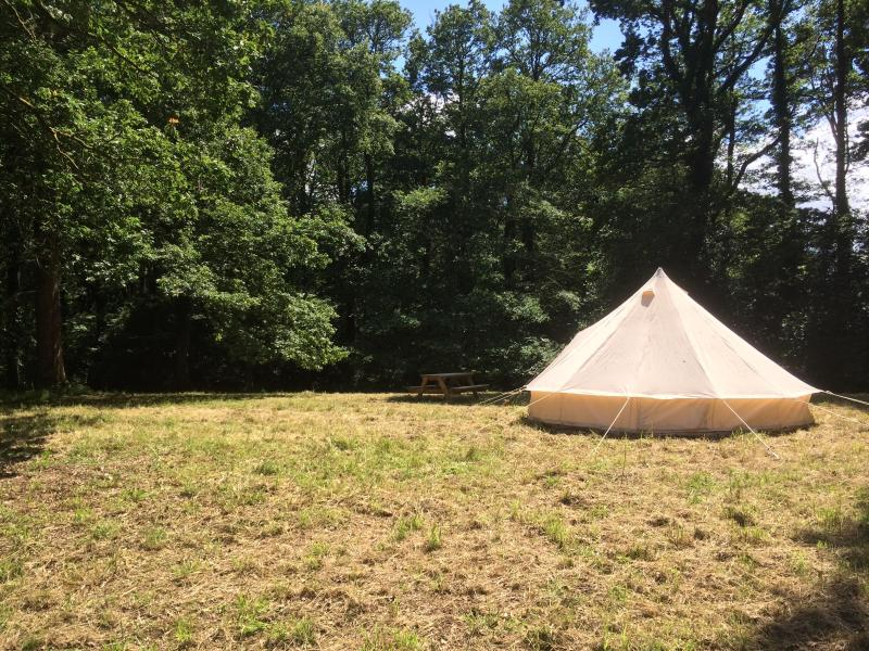 Enjoy our beautiful bell tent in our wood