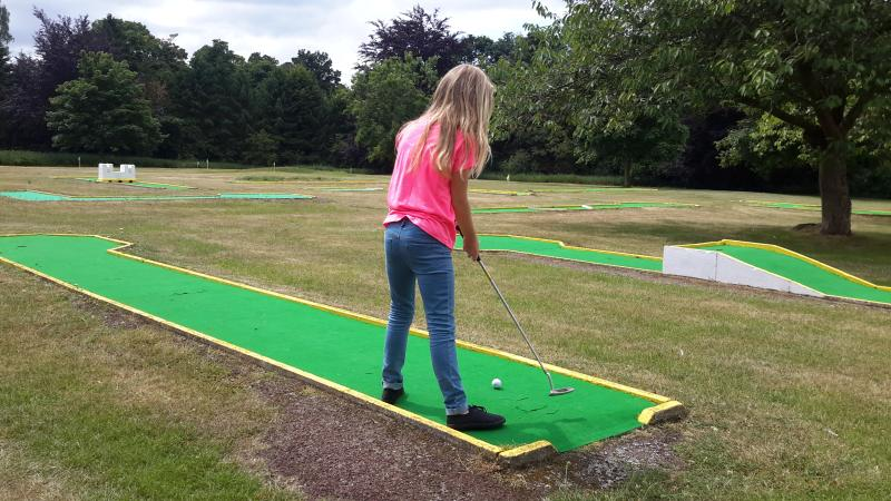 Crazy golf with 9 hole pitch and putt beyond.