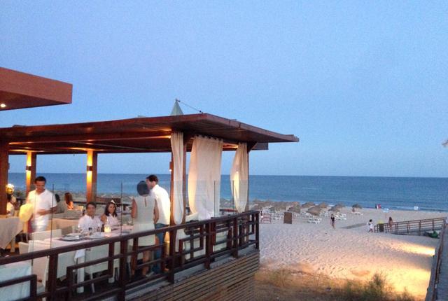Restaurant at Praia Verde - Pezinhos na Areia (feet in the sand)