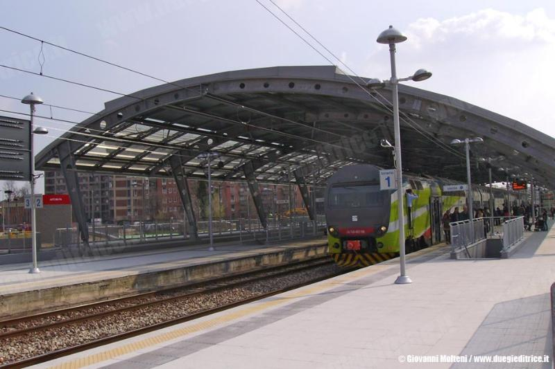 Milano Affori train stop located in front of the apartment