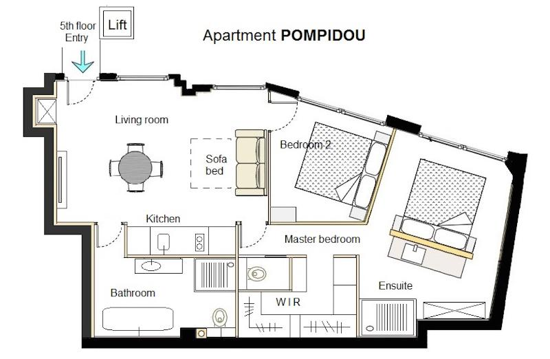 luxury apt  le marais-pompidou  2br  2ba  a  c has wi-fi and air conditioning