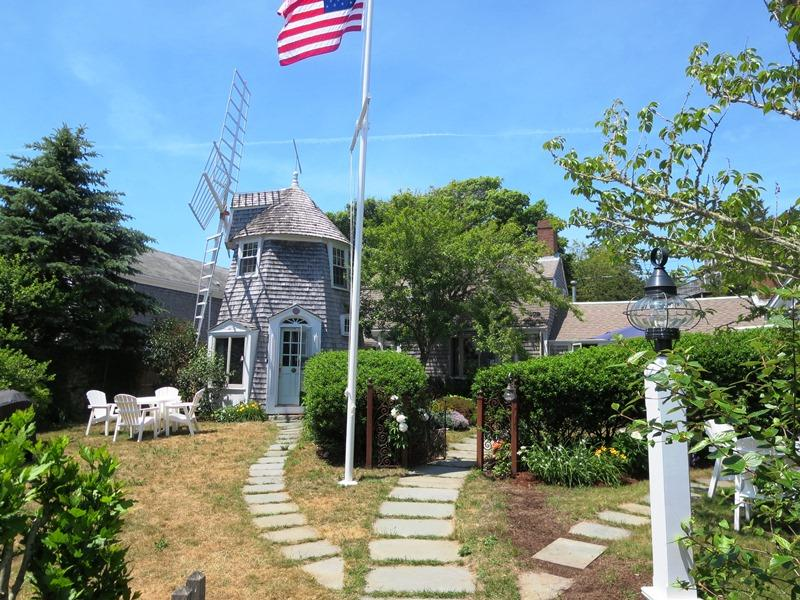 Private Outdoor table and gas grill for your use - 51 Eliphamets Lane (Windmill House) Chatham Cape Cod New England Vacation Rentals