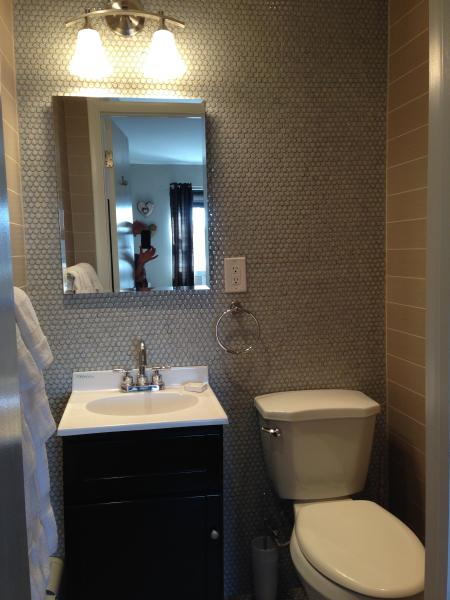 small bathroom attached to master bedroom