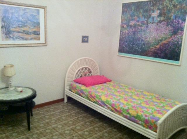 room with a cot