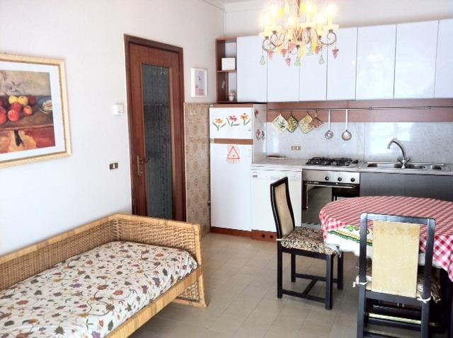 kitchen with sofa bed