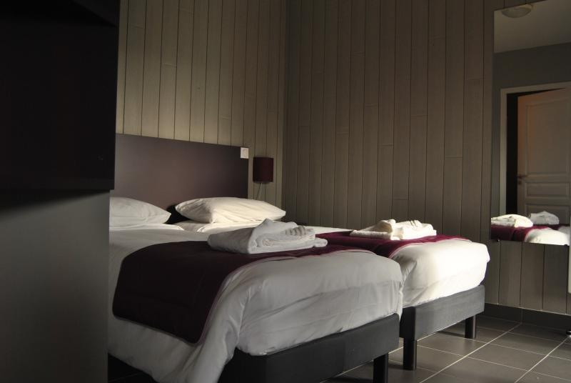 chambre avec salle de bain + sanitaire et terrasse privative