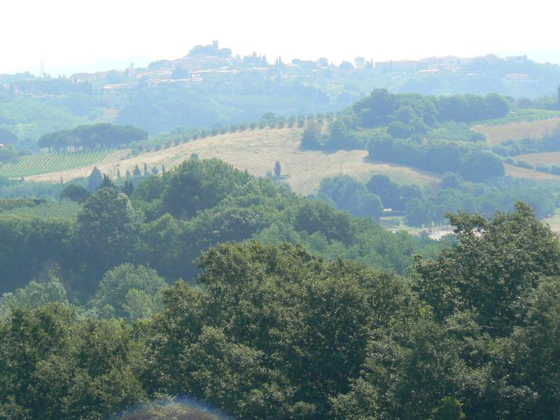 One of the views over some of  Tuscany's gorgeous vista's as seen from the apartment.