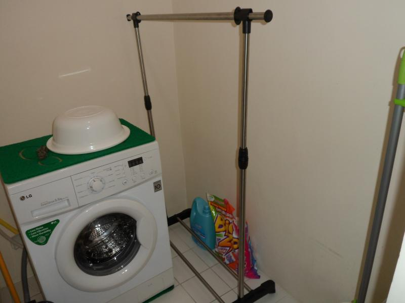 Apartment comes with a laundry area with washing machine and clothes dryer
