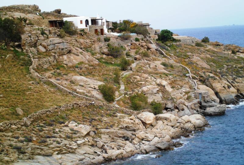 Unique Villa on the Sea, Mykonos, holiday rental in Kalafatis