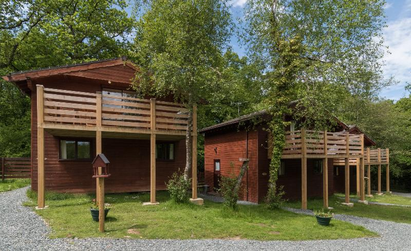 Beech Tree Lodge, a two storey lodge with stunning views from the balcony over the lakes