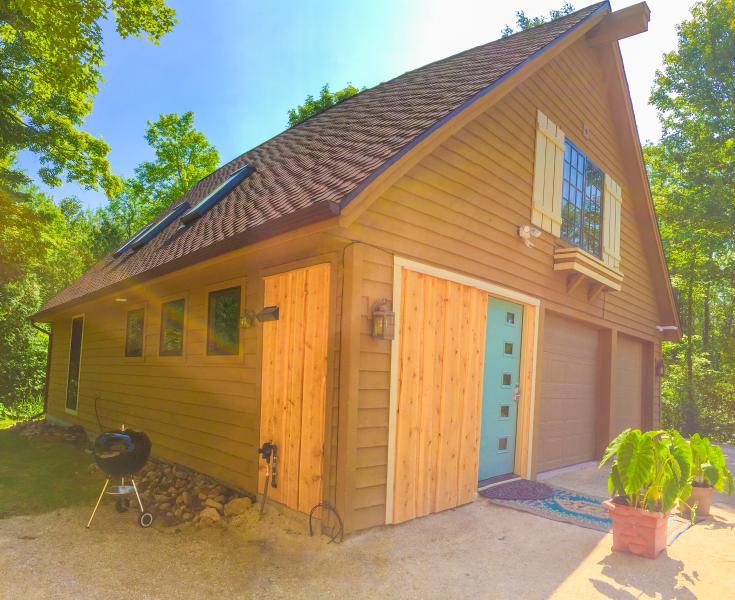 Welkom bij de cabine in mooie deur County, WI onderaan Plum.
