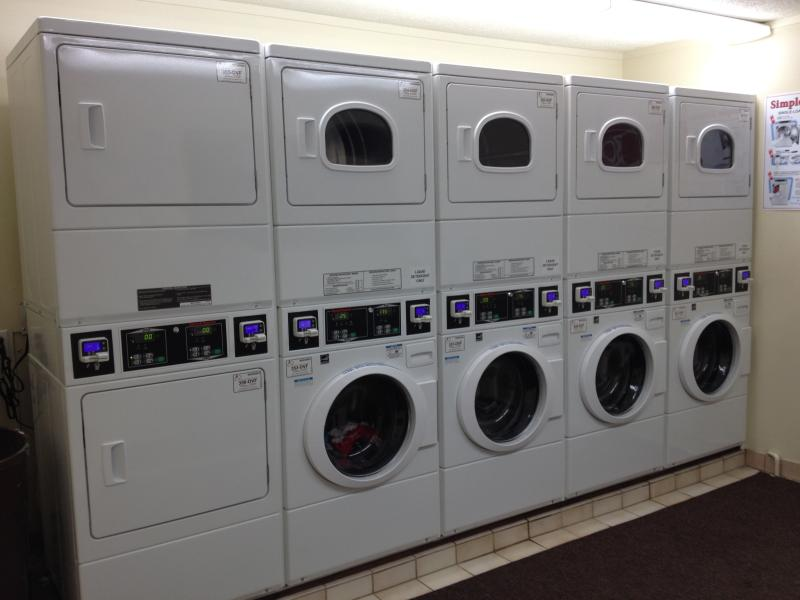 Updated laundry facilities available on site, card operated.