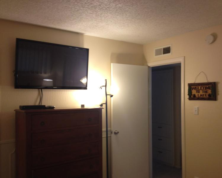 HDTV in Master Bedroom features Chromecast to stream your favorites!