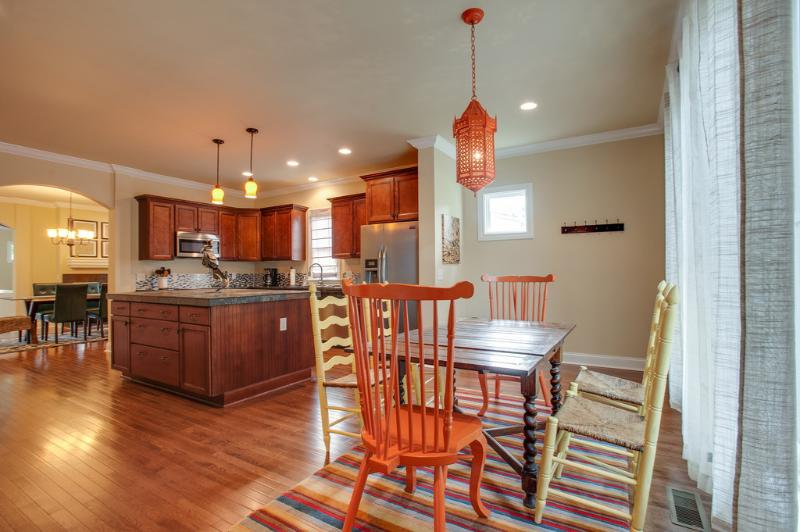 Your large group will have room to spread out in this huge kitchen!!