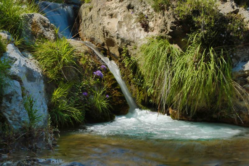 Bada i hällkar på Rio Verde