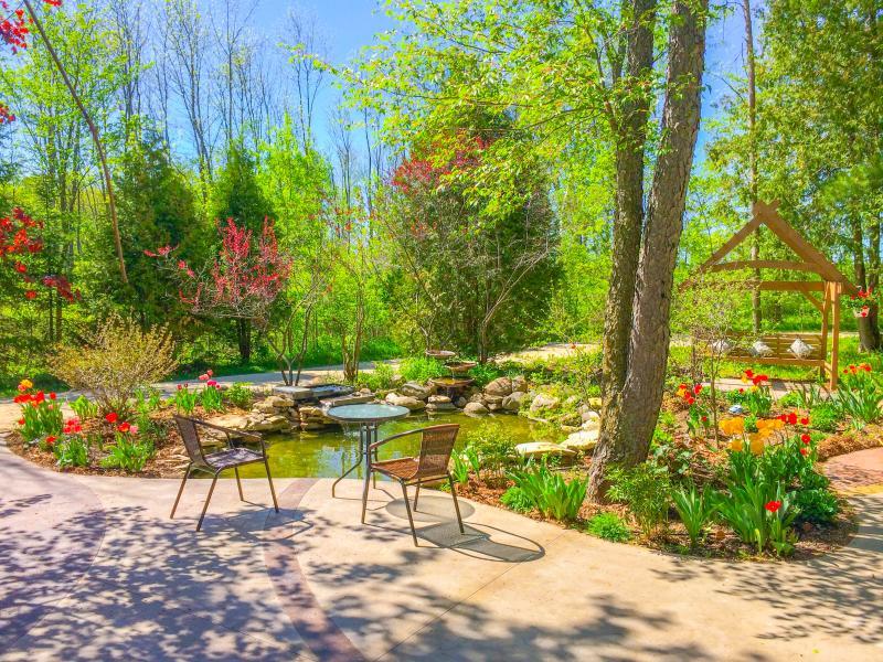 Expereince tranquilty in the Plum Bottom Perennial Gardens