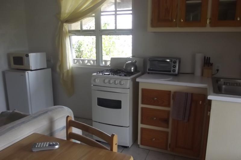 Wohnzimmer, Küche und Restaurants Platz