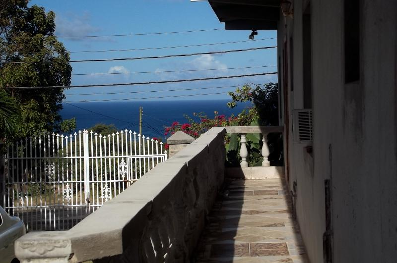 View of the Caribbean Sea from the apartments private balcony.