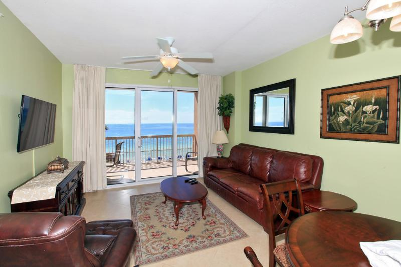 View of Living Area w/ Gulf View