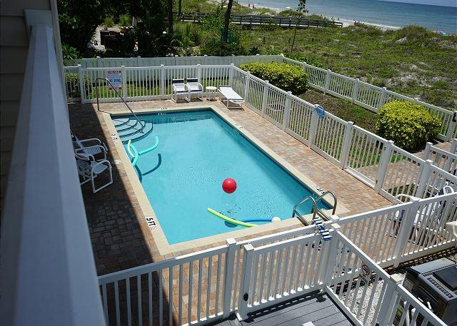 Beachfront Pool from your balcony