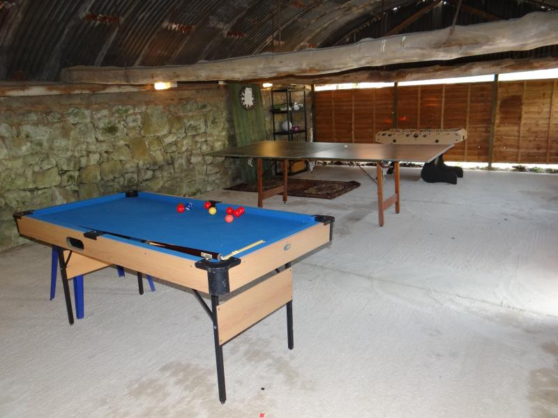 BARN CONVERTED TO GAMES ROOM