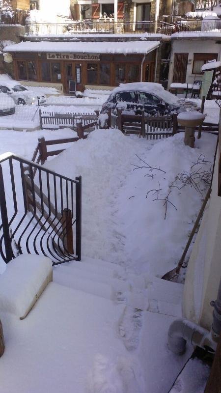 Garden entrance difficult when snows - out come the spades