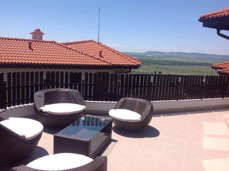 Terrasse 4 à l'étage sundowner Kali avec vue panoramique