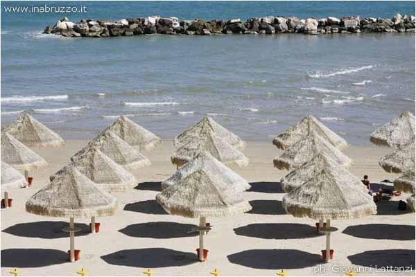 The beautiful beach of Pescara