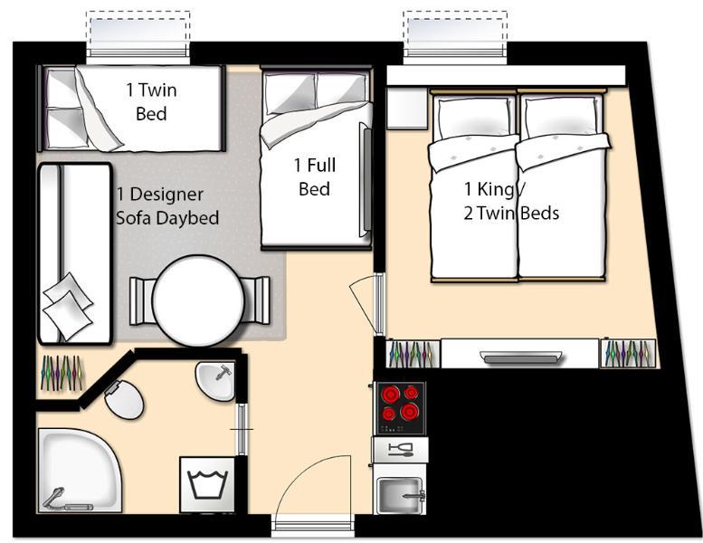 Floorplan 4 pers