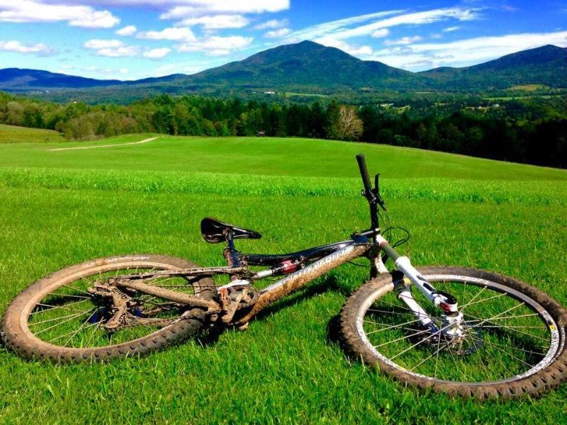 Darling Hill on the Kingdom Trails is a great place to ride bikes and admire the views.