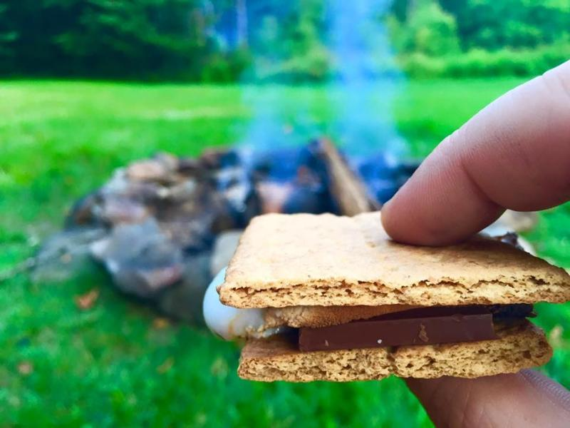 BYOS - Bring your own s'mores to cook around the large campfire.