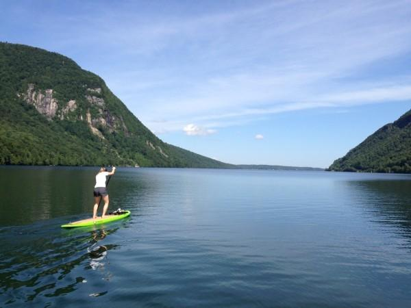 Try standup paddle boarding at Lake Willoughby