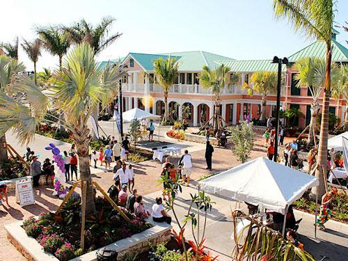 Old Fort Bay town center, 100 yards from VW