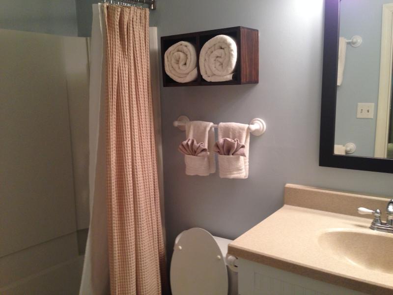 Maestro y dos baños (son idénticos uno al otro)